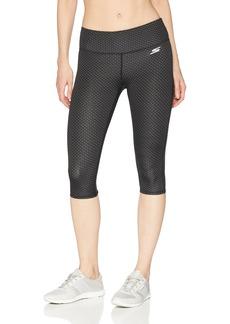 Skechers Women's Dot Capri Active Stretch Workout Yoga Leggings