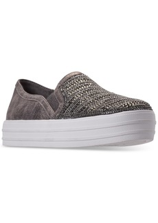 Skechers Women's Double Up - Shimmer Top Slip-On Casual Sneakers from Finish Line