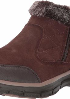 Skechers Women's Easy Going-Girl Crush-Quarter Zip Quilted Bootie Ankle Boot   M US