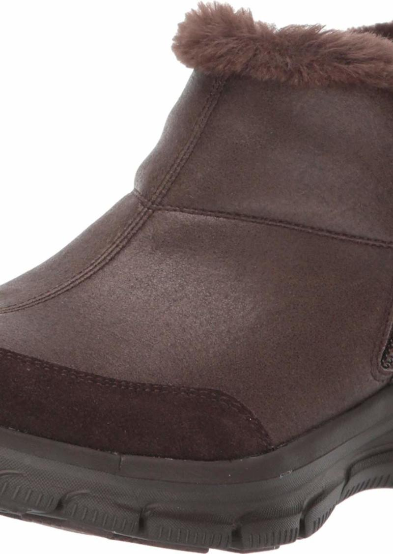 Skechers Women's Easy Going Service-Relaxed Fit Short Quarter Zip Bootie with Fur Trim Ankle Boot   M US