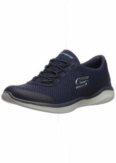 Skechers Women's Envy-Good Thinking Sneaker NVY  M US