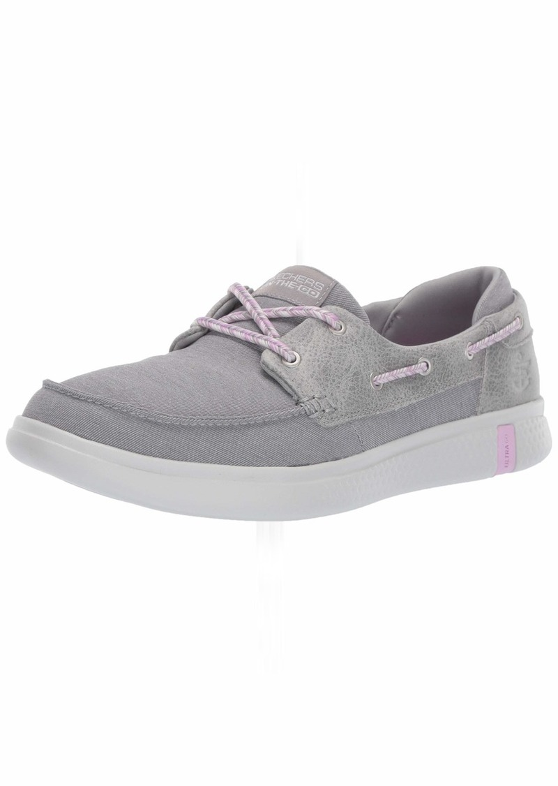 Skechers Women's Glide Ultra-Playa Boat Shoe Gray  M US