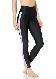 Skechers Women's Go Flex Aerate High Waisted 7/8 Yoga Pant Legging Bold Black
