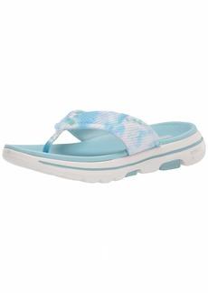 Skechers Women's GO Walk  TIE DYE Sandal Flip-Flop