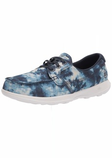 Skechers womens Go Walk Lite Tie Dye Boat Shoe   US
