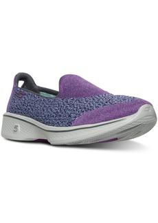 Skechers Women's GOwalk 4 - Dual Layer Heather Walking Sneakers from Finish Line