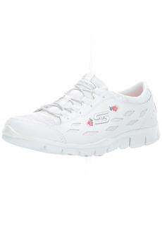 Skechers Women's Gratis-Divine Bloom Sneaker WHT  M US