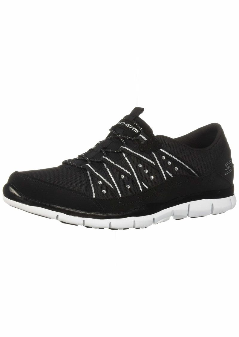 Skechers Women's Gratis-Dreaminess Sneaker BKW  M US