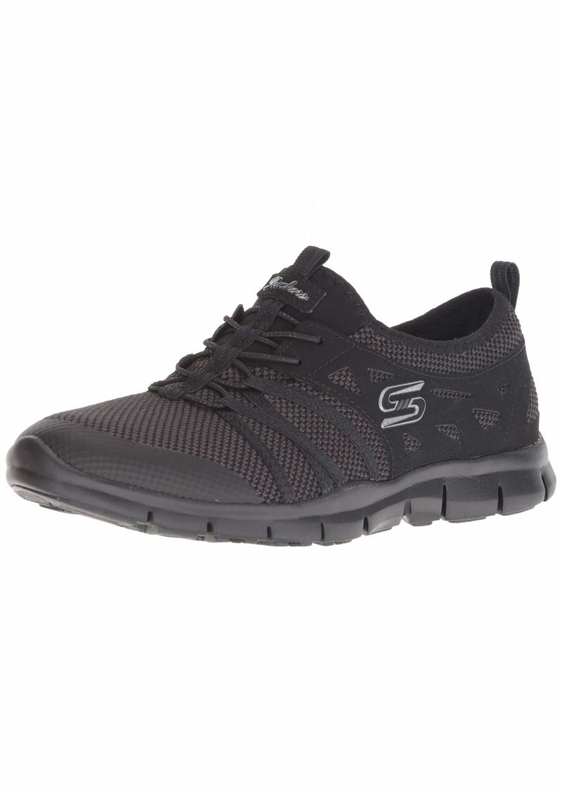 Skechers Women's Gratis-What A Sight Sneaker BBK  M US
