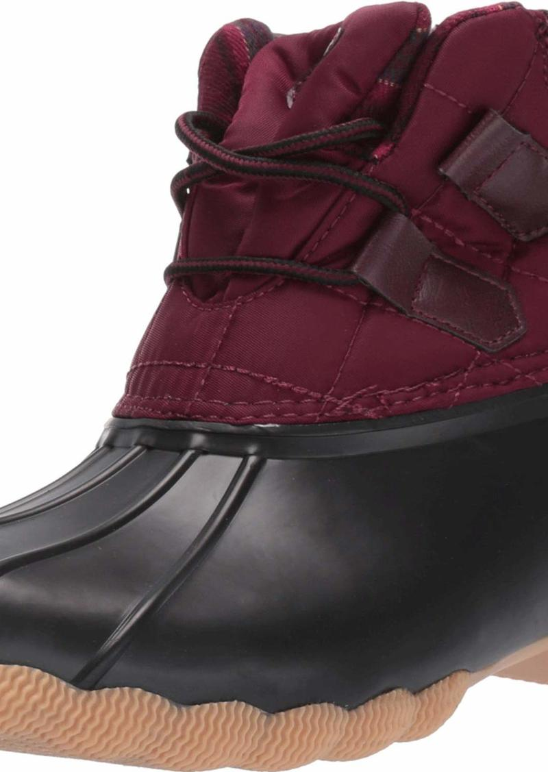 Skechers Women's Hampshire Ridge-Mid Quilted Lace Up Duck Boot with Waterproof Outsole Rain   M US