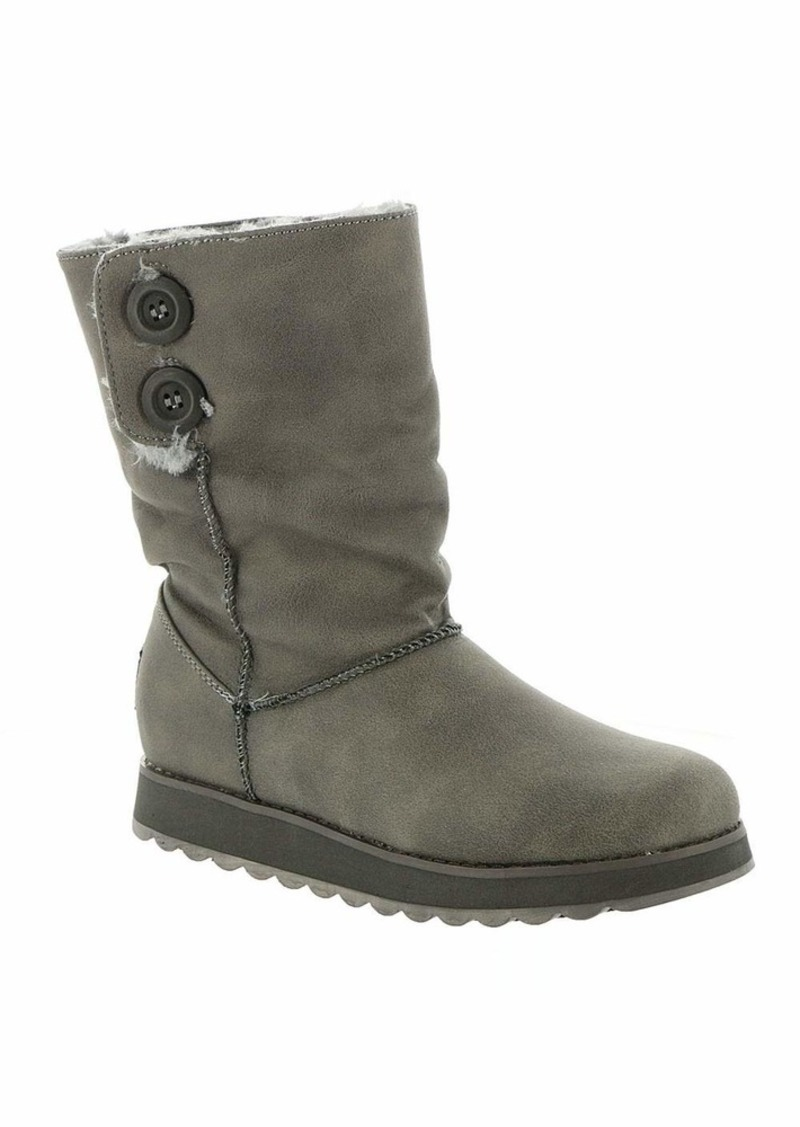 Skechers Women's Keepsakes 2.0-Big Button Slouch Mid Boot Fashion   M US
