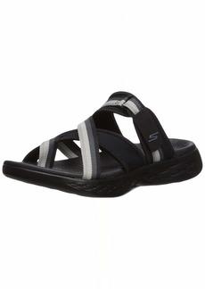 Skechers Women's ON-The-GO 600-SUMMIT Slide Sandal Black/Gray  M US