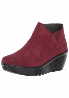 Skechers Women's Parallel-Ditto-Asymmetrical Collar Suede Bootie Ankle Boot   M US