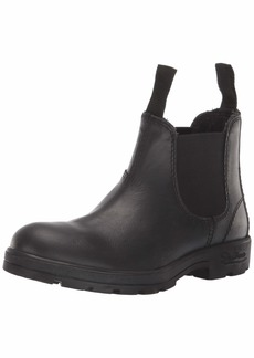 Skechers Women's Peaked-Waterproof Leather Chelsea Boot with Memory Foam Cushioning   M US