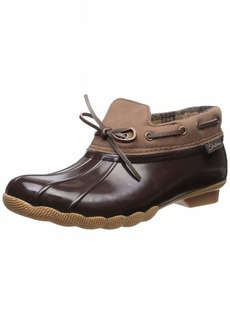 Skechers Women's Pond - Posy ONE - Waterproof Bow Duck Shoe Rain Boot   M US