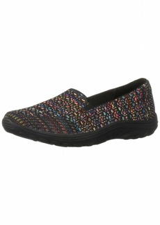 Skechers Women's Reggae Fest-Wicker-Engineered Knit Twin Gore Slip On (Willows) Loafer Flat   M US