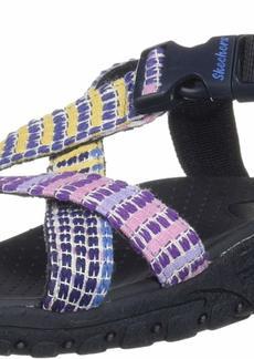 Skechers Women's Reggae-SEW What-Boho Woven Strappy Slingback Sandal   M US