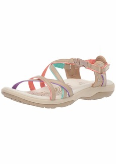 Skechers Women's Reggae Slim-Multi-Colored Strappy Adjustable Slingback-Vacay Sandal   M US