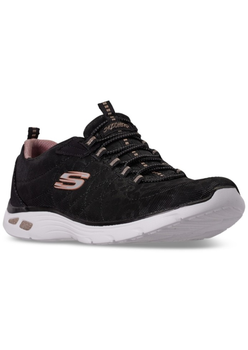 Skechers Women's Relaxed Fit: Empire D'Lux Spotted Walking Sneakers from Finish Line