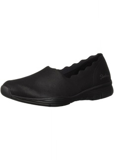 Skechers Women's Seager-Triple Ripple-Scallop Collar Slip on Loafer