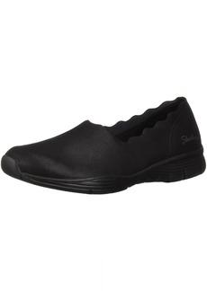 Skechers Women's Seager-Triple Ripple-Scallop Collar Slip on Loafer