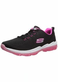 Skechers Women's Skech-AIR Deluxe-NIGHTTIDE Sneaker Black hot Pink  M US