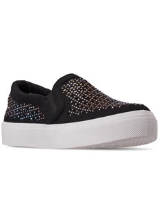 Skechers Women's Street Poppy - Laser Cut Slip-On Casual Sneakers from Finish Line