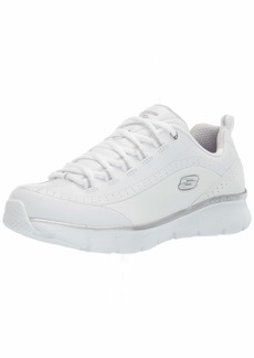 Skechers Women's Synergy 3.0 Sneaker whitesilver 6 W US