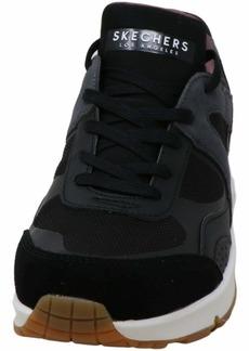 Skechers Low-Top (Black & Chacoal Suede/Mesh/Black Hot Melt Trim Bkmt)