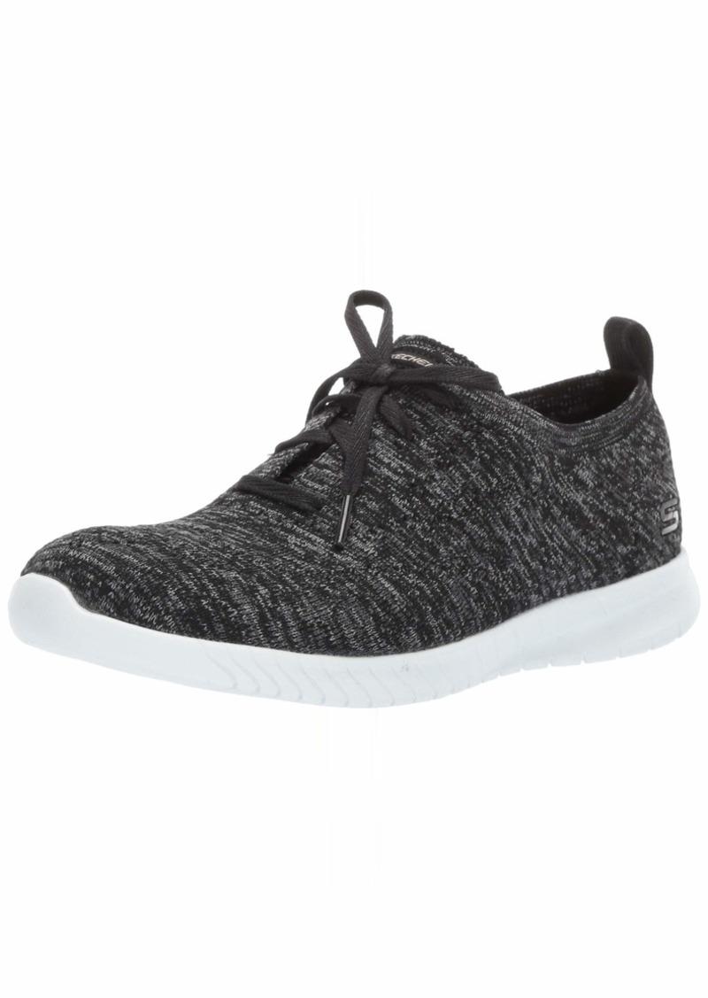 Skechers Women's Wave-LITE-ON My Level Sneaker BKW=Black White  M US