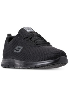 Skechers Women's Work Relaxed Fit: Ghenter - Bronaugh Slip Resistant Athletic Work Sneakers from Finish Line