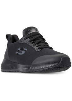 Skechers Women's Work: Squad Slip Resistant Wide Width Athletic Work Sneakers from Finish Line