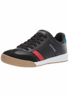 Skechers Women's Zinger Rockers. Leather and Suede Retro Trainer Sneaker BKRD