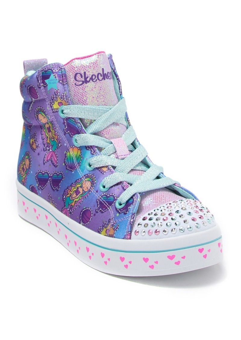 Skechers Twi-Lites Mermaid Party Light-Up High Top Sneaker (Toddler, Little Kid, & Big Kid)