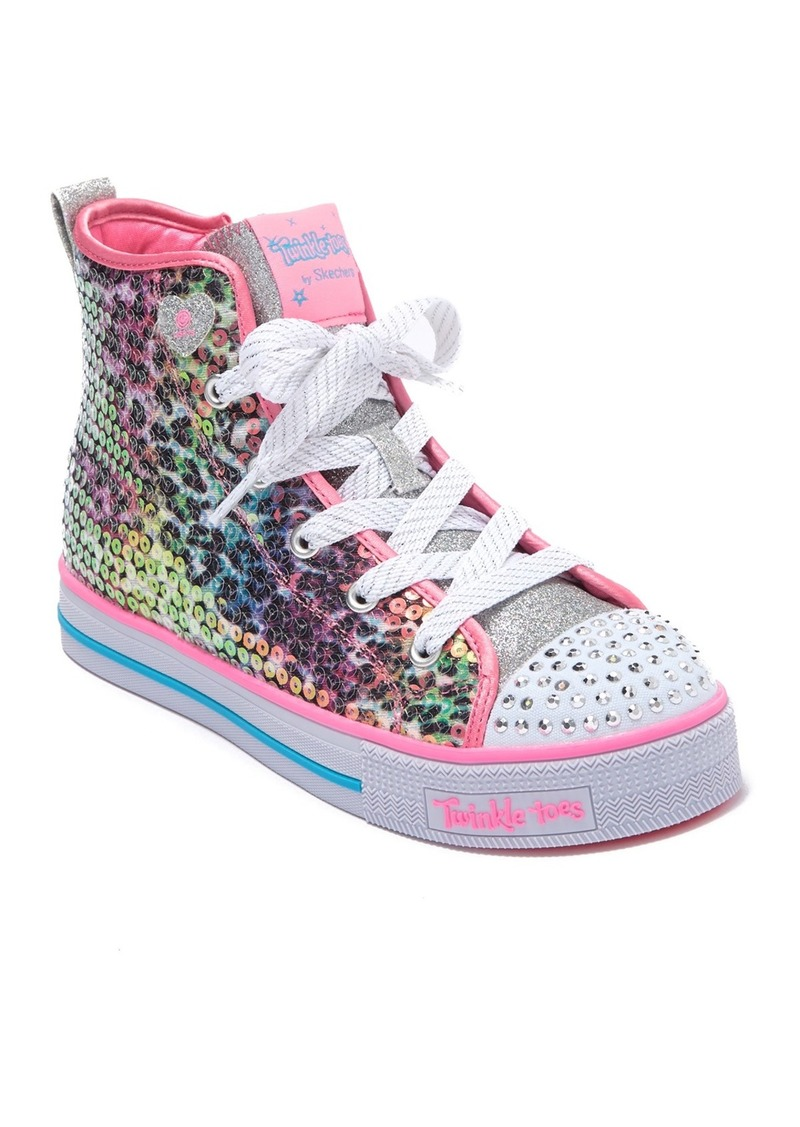 Skechers Twinkle Lite Leopard Glitz Sneaker (Toddler, Little Kid & Big Kid)
