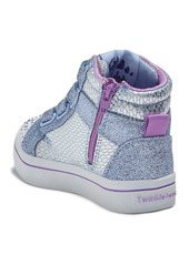 Skechers Twinkle Toes Twi-Lites Miss Holla Glam Light-Up High Top Sneaker (Toddler)