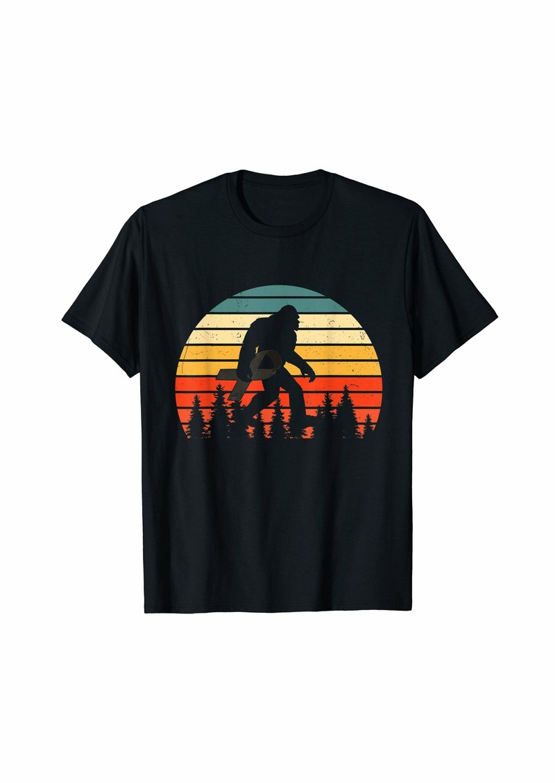 Bigfoot hold Ribbon Skin Cancer Awareness shirt gift