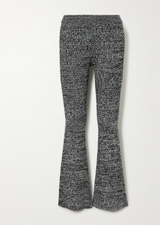 skin Caitlin Ribbed Space-dyed Wool-blend Slim-leg Pants
