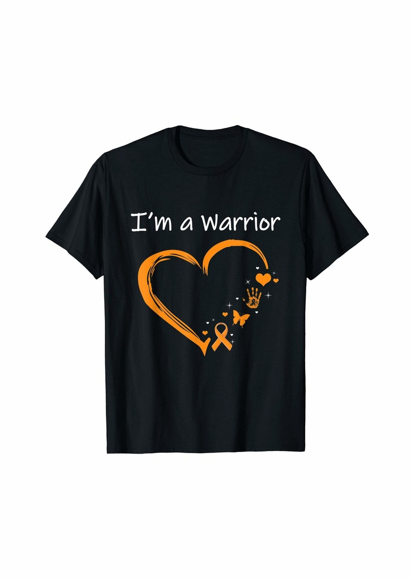 I am a Warrior Skin Cancer Heart Cancer Month T-Shirt