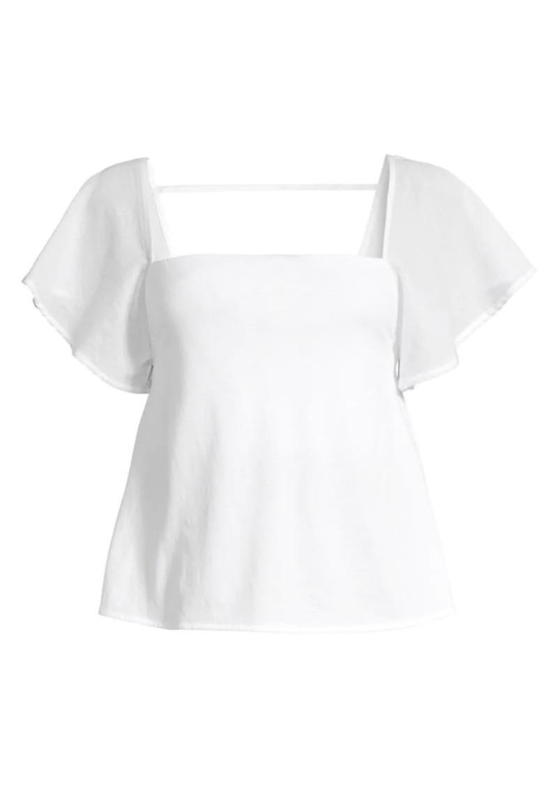 skin Josie Flutter Sleeve Top