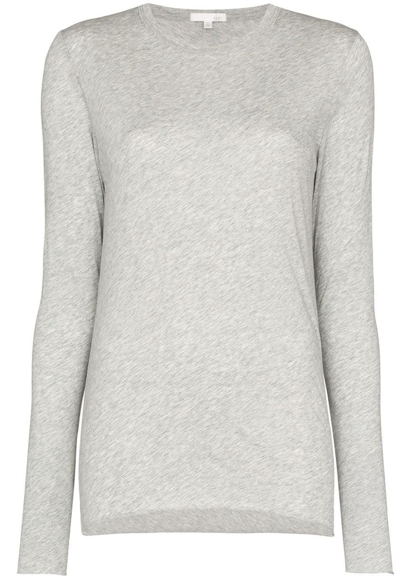 skin long-sleeve fitted top
