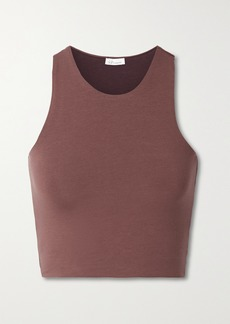 skin Net Sustain Calliope Reversible Cropped Organic Pima Cotton-blend Jersey Tank