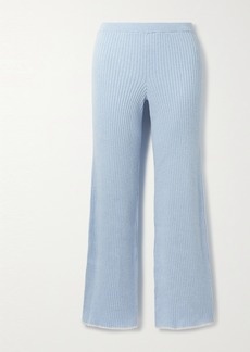 skin Net Sustain Maddie Ribbed Organic Cotton And Cashmere-blend Track Pants