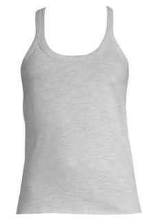skin Rib-Trimmed Cotton Tank Top