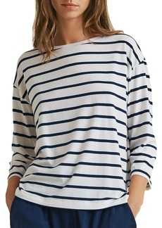 Skin Mathilde Striped 3/4-Sleeve Lounge Top