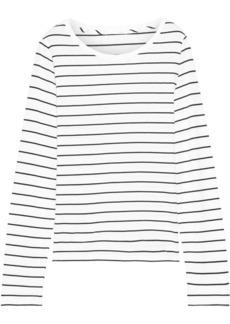 Skin Woman Addison Striped Pima Cotton And Modal-blend Top White