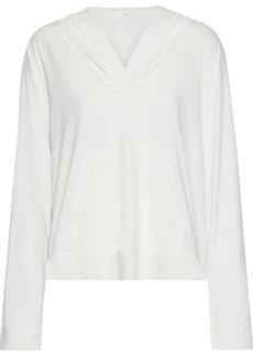 Skin Woman Jayden Voile-trimmed Pima Cotton-jersey Hoodie White