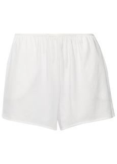 Skin Woman Jo Pima Cotton-jersey Pajama Shorts White