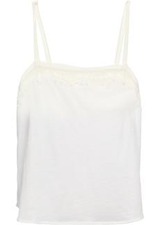 Skin Woman Lace-trimmed Pima Cotton Camisole White