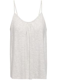 Skin Woman Lexie Gathered Mélange Stretch-jersey Camisole Light Gray